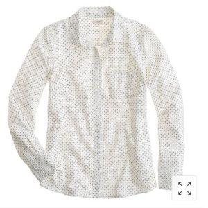 J. Crew boy shirt in polka dot
